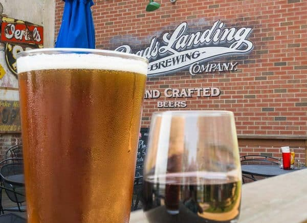 Tap Beer on the Patio at Reads Landing Brewing Co