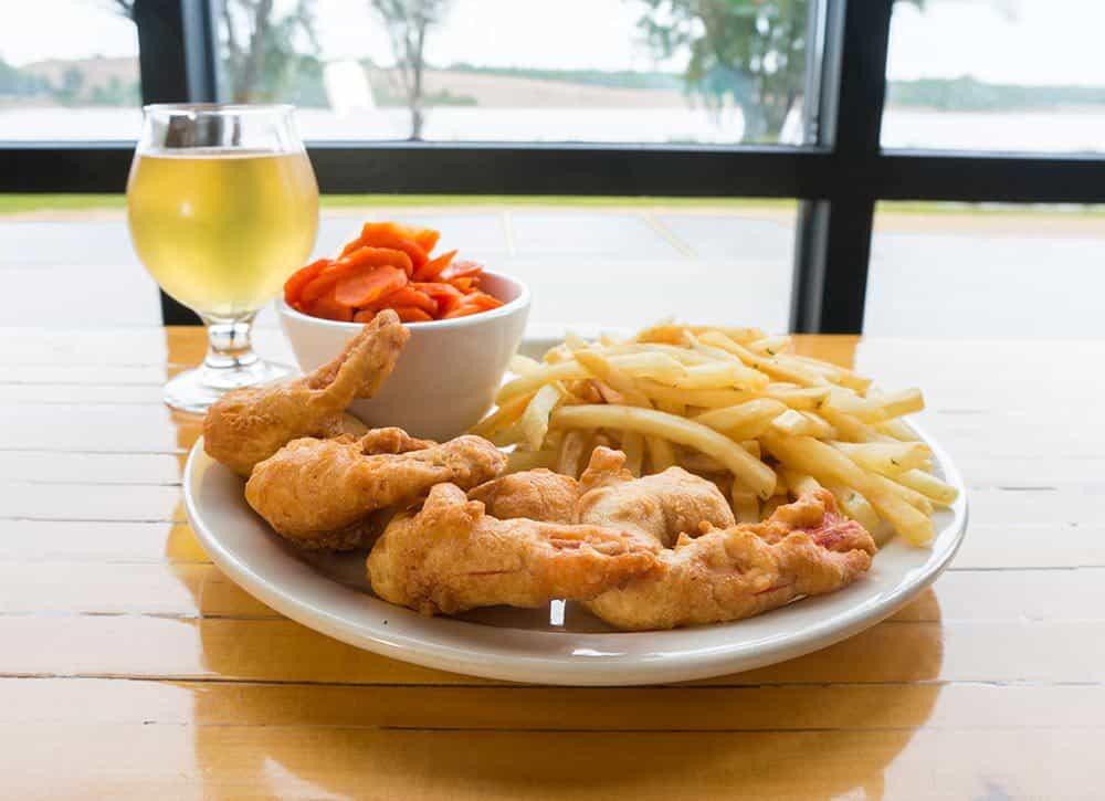 Shrimp Dinner in Reads Landing Brewing Co